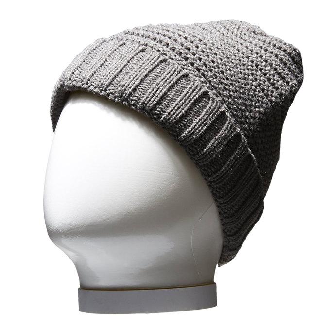 Pletená čepice bata, šedá, 909-2391 - 13