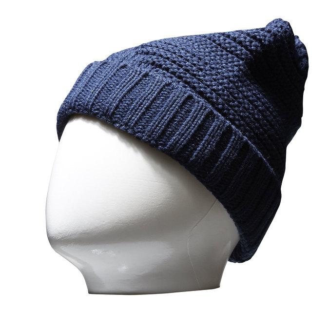 Pletená čepice bata, modrá, 909-9391 - 13