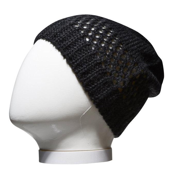 Pletená čepice bata, černá, 909-6372 - 13