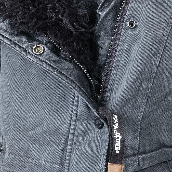 Dámská zimní bunda s kožešinovým límcem khujo, černá, 979-6023 - 16