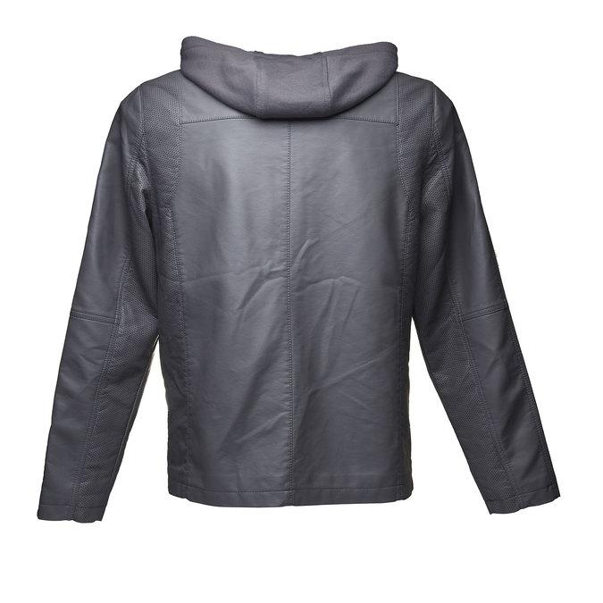 Pánská bunda s kapucí bata, šedá, 971-2161 - 26