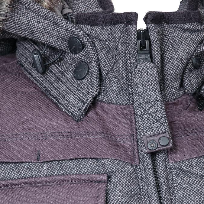 Pánská zimní bunda s kožíškem khujo, šedá, 979-2034 - 16