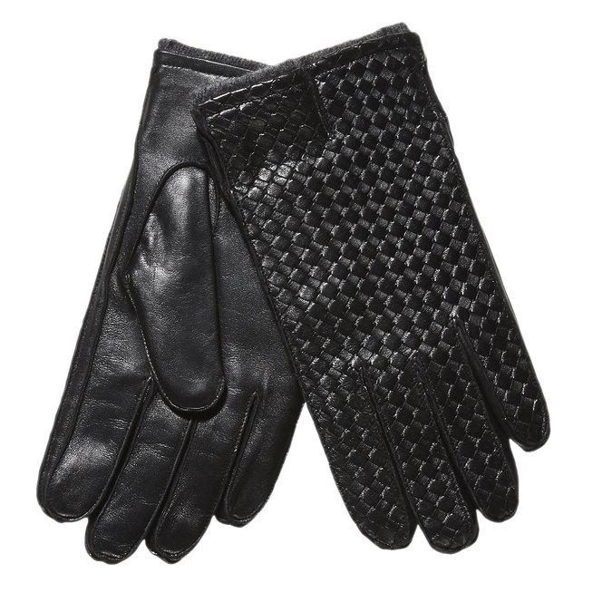 Kožené pánské rukavice bata, černá, 904-6119 - 13