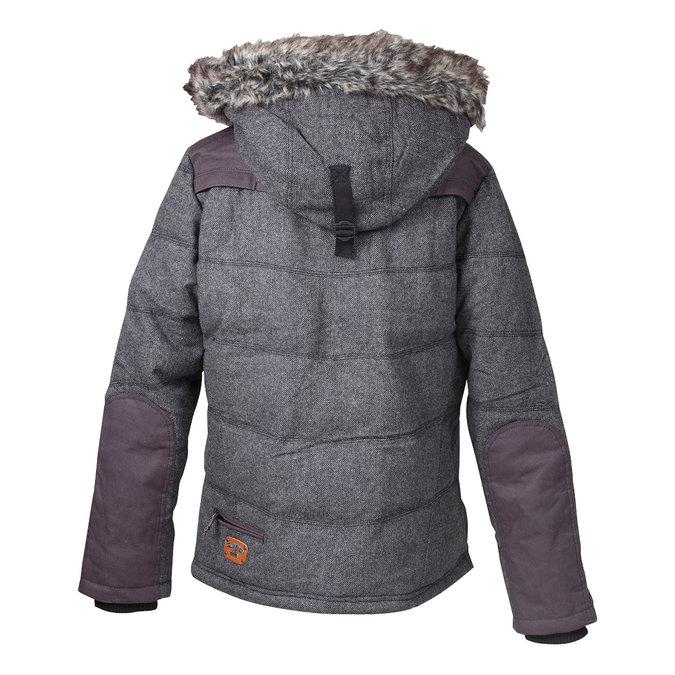 Pánská zimní bunda s kožíškem khujo, šedá, 979-2034 - 26