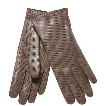 Dámské kožené rukavice s perforací bata, šedá, 904-2114 - 13