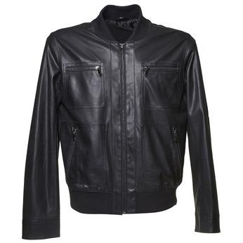 Pánská bunda s perforací bata, černá, 971-6173 - 13