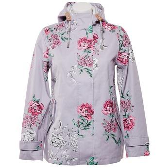 Dámská bunda s květy joules, šedá, 979-2033 - 13