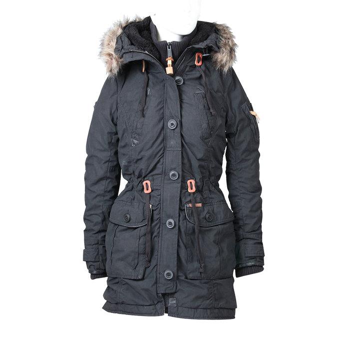 Dámská zimní bunda ve stylu Parky khujo, černá, 979-6014 - 13