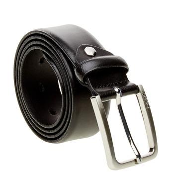 Pánský kožený opasek bugatti-belts, černá, 954-6021 - 13
