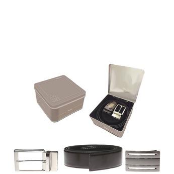 Kožený opasek se dvěma sponami bata, černá, 954-6191 - 13