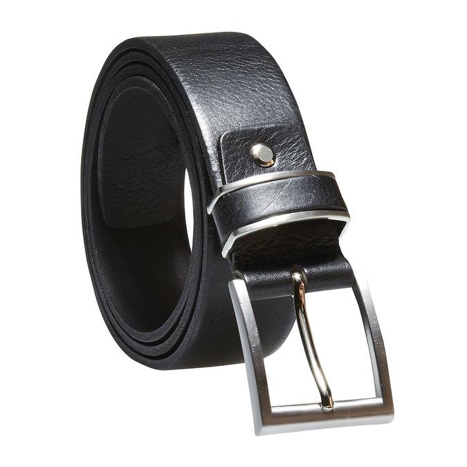 Pánský kožený opasek bata, černá, 954-6130 - 13
