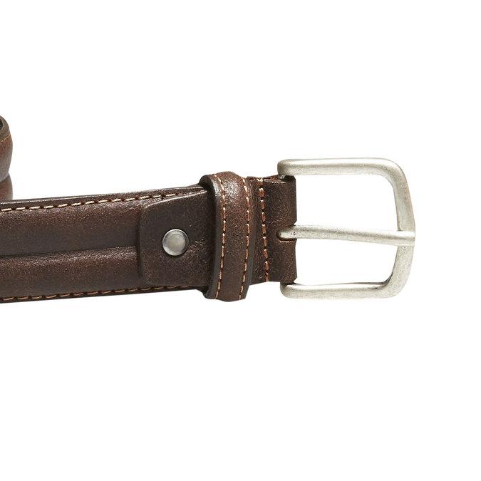 Pánský kožený opasek bata, hnědá, 954-4128 - 26