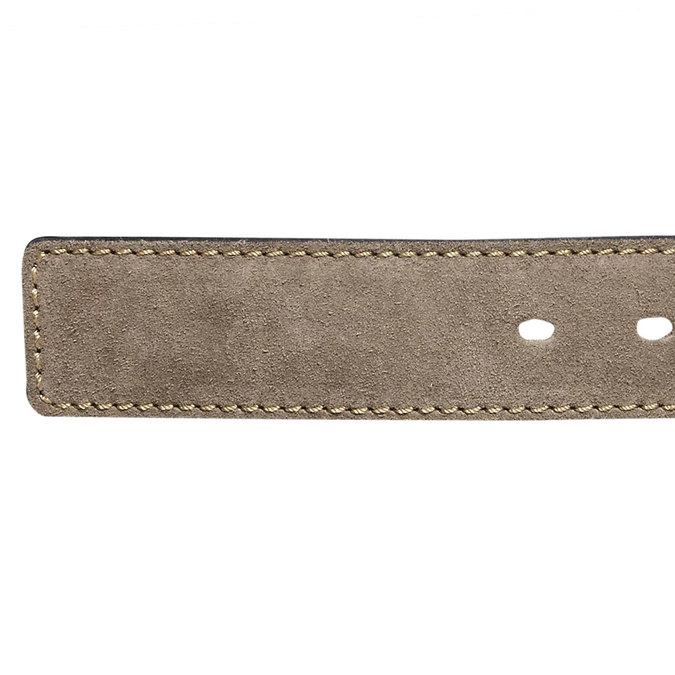 Pánský kožený pásek bata, béžová, 953-8106 - 16