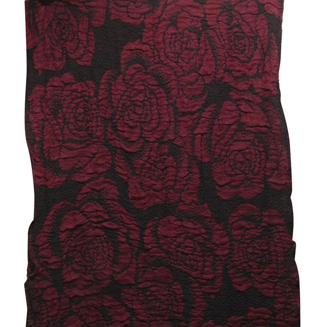 Šála s růžemi bata, červená, 909-5326 - 26