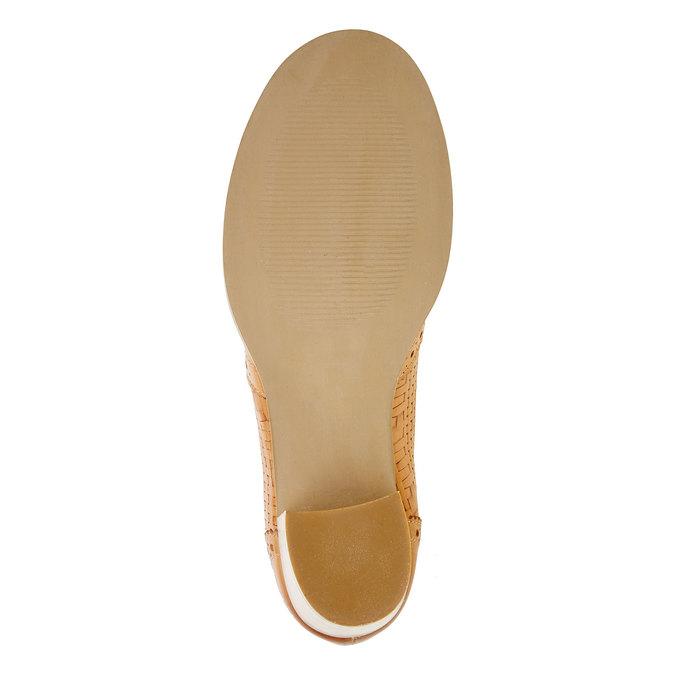Kožené polobotky na podpatku bata, hnědá, 624-3386 - 26