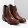Kožená Chelsea obuv bata, hnědá, 594-4448 - 26