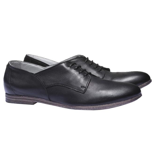Kožené polobotky bata, černá, 524-6169 - 26