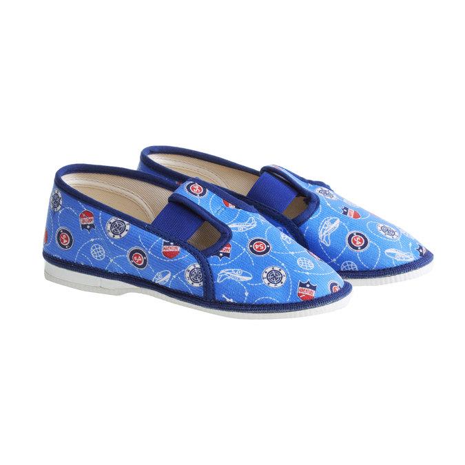Dětské pantofle bata, modrá, 279-9011 - 26