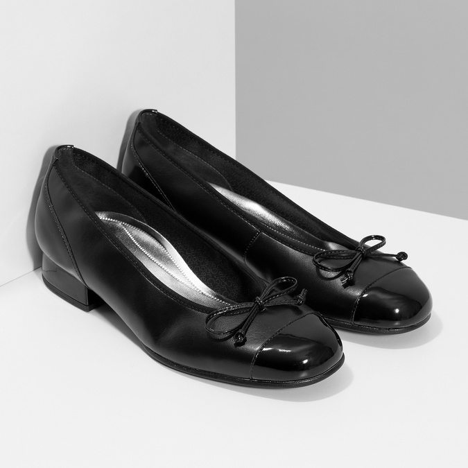 Baleríny s mašličkou gabor, černá, 524-6452 - 26