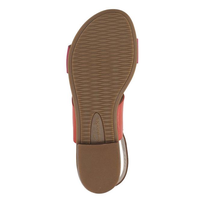 Kožené sandály s barevnými pásky clarks, červená, 564-5010 - 26