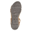 Dámské kožené sandály weinbrenner, hnědá, 566-4102 - 26
