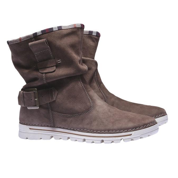 Kožená obuv s barevným lemem weinbrenner, hnědá, 596-4311 - 26