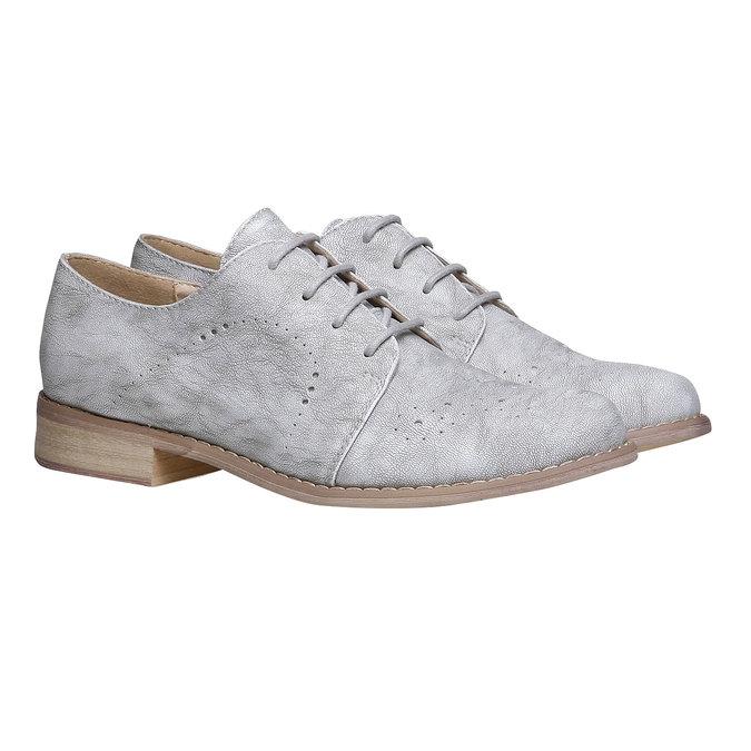 Dámské polobotky bata, šedá, 521-2477 - 26