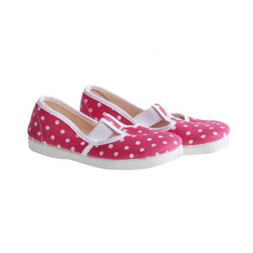 Dětské cvičky s puntíky bata, růžová, 279-5102 - 26
