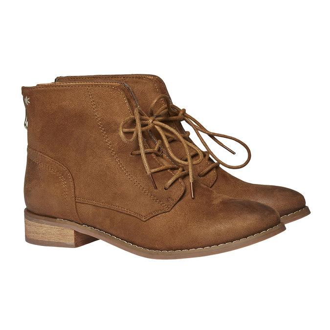 Kotníčkové šněrovací boty bata, hnědá, 599-3493 - 26