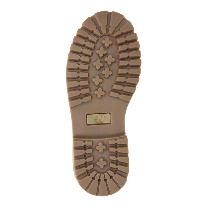 Dětská kožená obuv na výrazné podešvi weinbrenner-junior, růžová, 396-5182 - 26