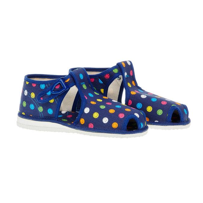 Dětská domácí obuv bata, fialová, 179-9100 - 26