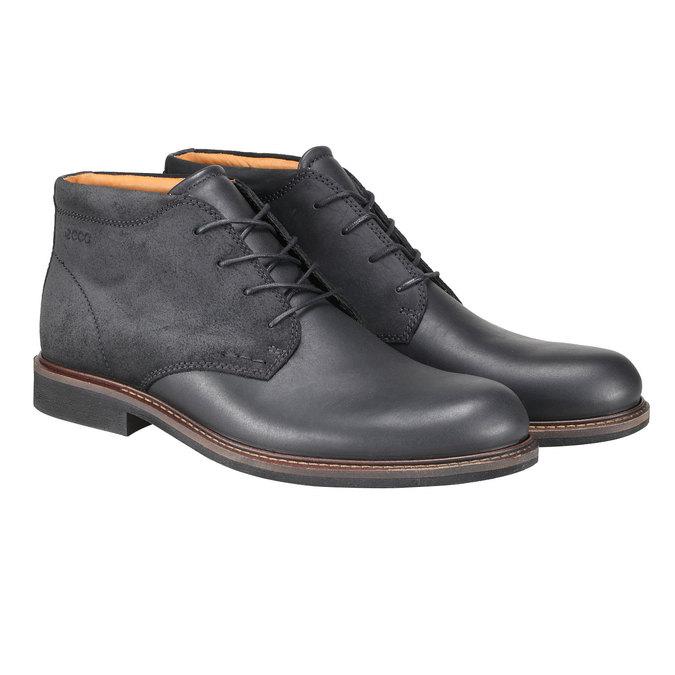 Kožené Chukka Boots ecco, černá, 894-6037 - 26