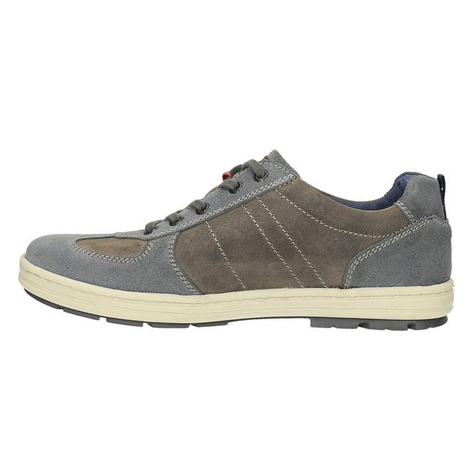 Pánské kožené tenisky bata, šedá, 826-2649 - 26
