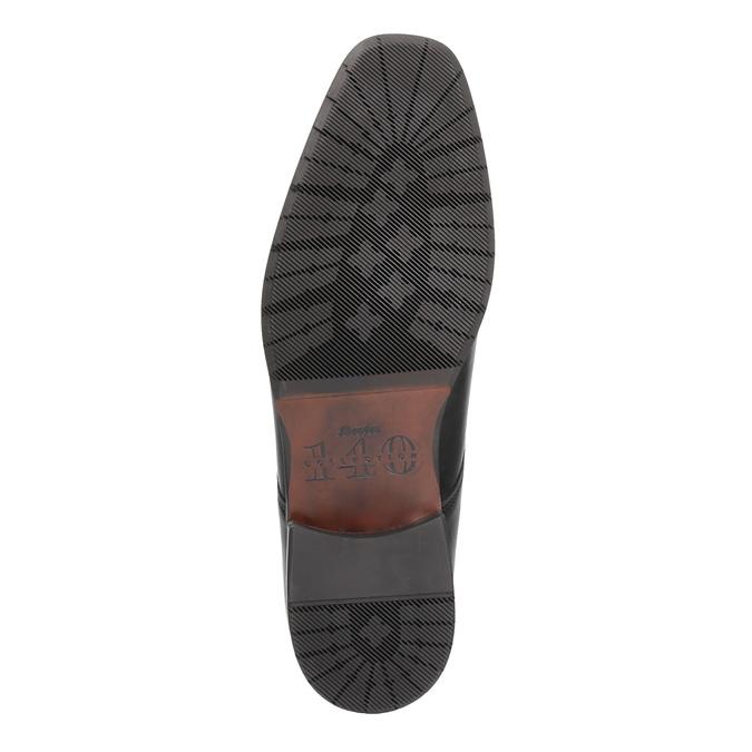 Pánské kožené polobotky bata, černá, 824-6669 - 26