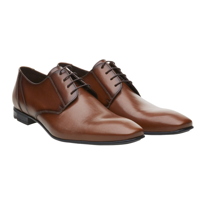 Pánská kožená obuv typu Derby lloyd, hnědá, 824-3108 - 26
