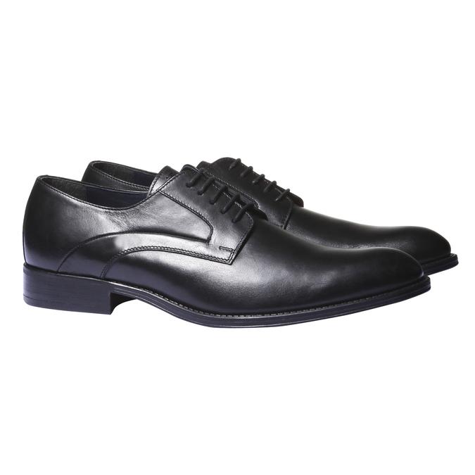 Kožené polobotky v Derby stylu bata, černá, 824-6108 - 26