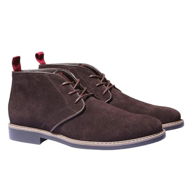 Kotníčková obuv ve stylu Chukka bata, hnědá, 893-4245 - 26