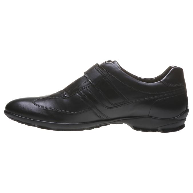 Pánské kožené tenisky bata, černá, 814-6989 - 15
