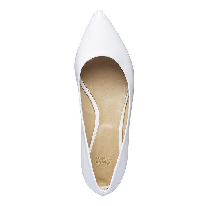 Bílé kožené baleríny do špičky bata, bílá, 524-1493 - 19