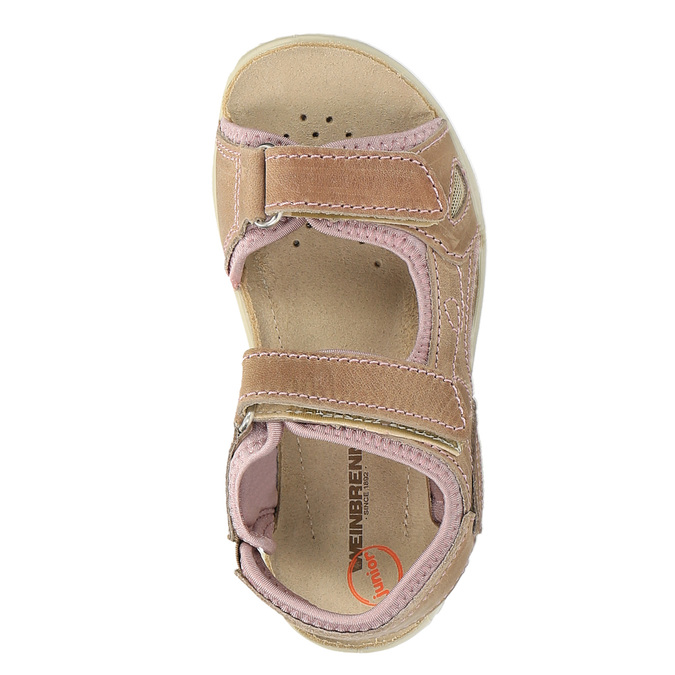 Dětské kožené sandály weinbrenner-junior, hnědá, 366-3170 - 19