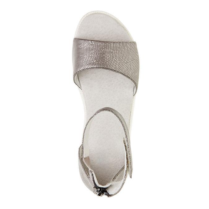 Sandály s páskem kolem kotníku bull-boxer, šedá, 421-2002 - 19