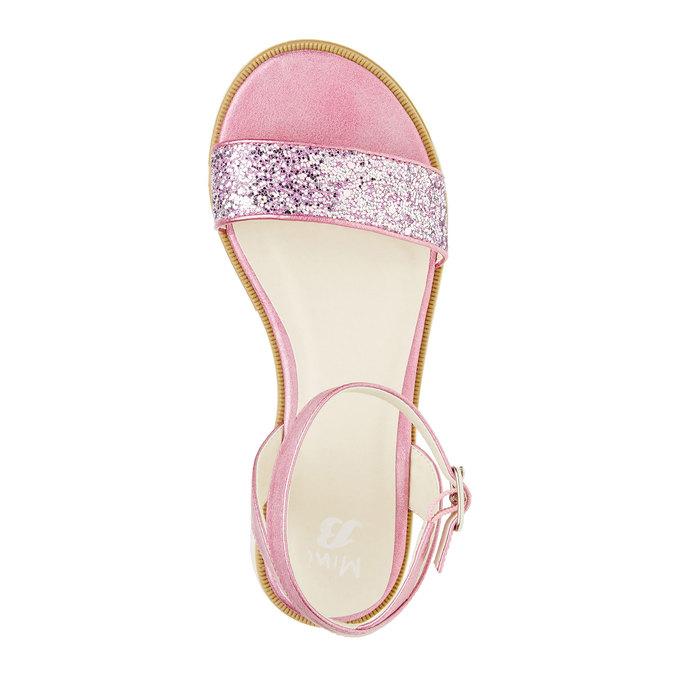 Sandály na flatformě se třpytkami mini-b, růžová, 361-5165 - 19