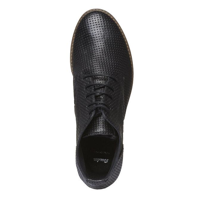 Dámské kožené kotníčkové boty bata, černá, 524-6468 - 19