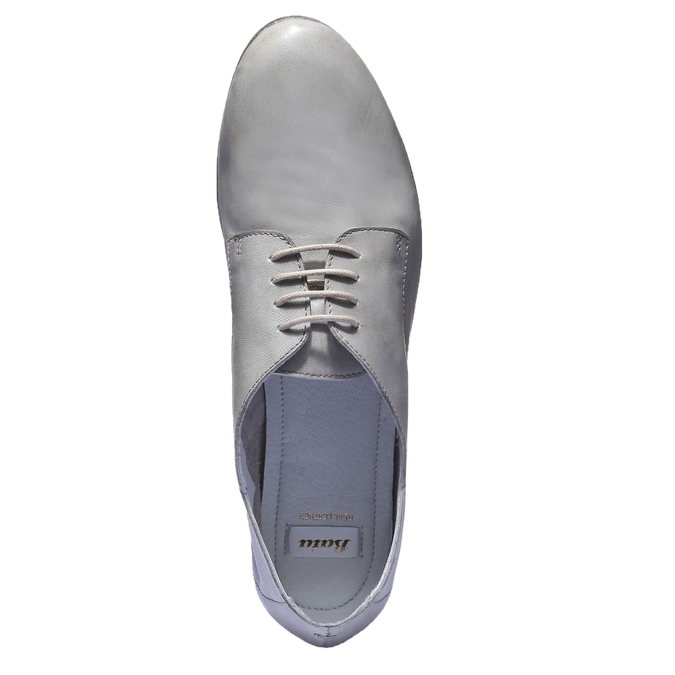 Kožené polobotky bata, šedá, 524-2169 - 19