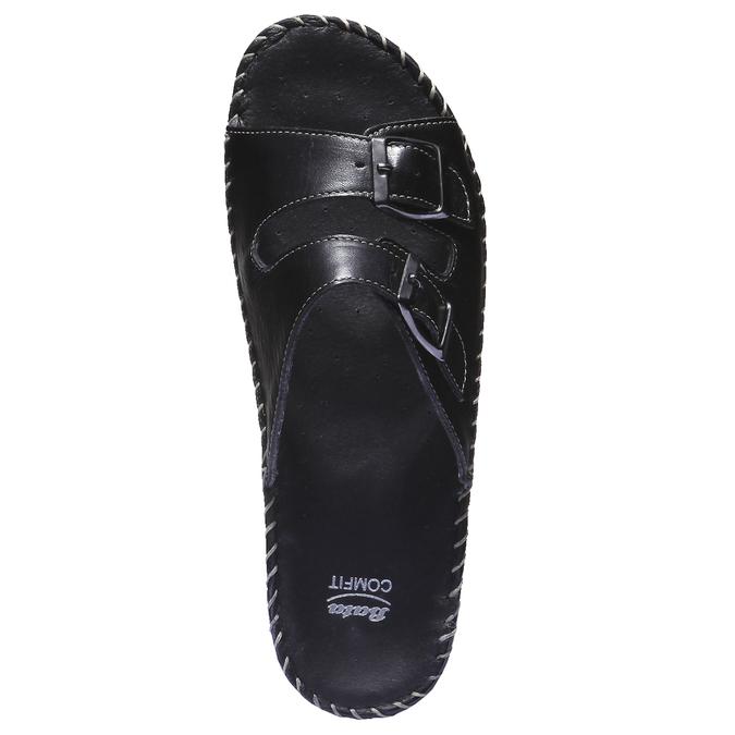 Kožené nazouváky bata-comfit, černá, 574-6173 - 19
