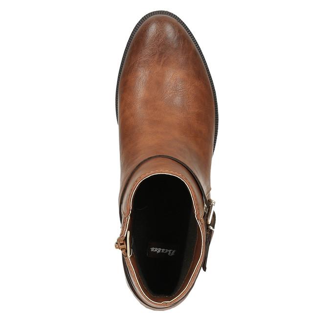 Kotníčková obuv hnědá bata, hnědá, 591-4602 - 19
