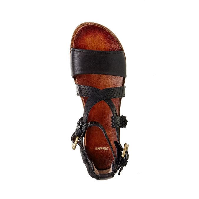 Dámské kožené sandály bata, černá, 566-6103 - 19