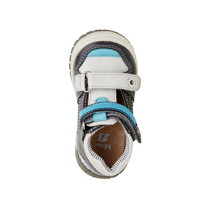 Kotníčkové boty s průstřihy mini-b, šedá, 111-2102 - 19
