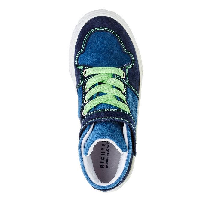 Chlapecká kožená obuv richter, modrá, 413-9002 - 19