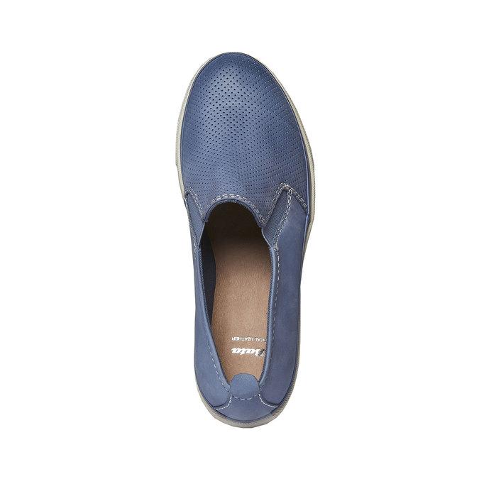 Kožené Plim Soll boty s perforací bata, modrá, 514-9197 - 19